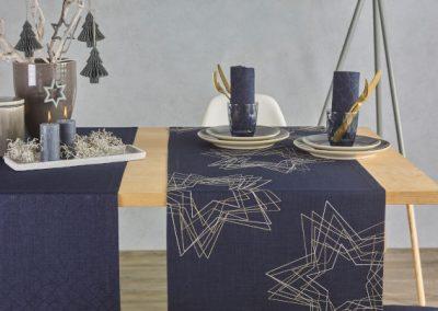 Blaue Tischdekoration von Ihrem Raumausstatter Wohnkultur Krause
